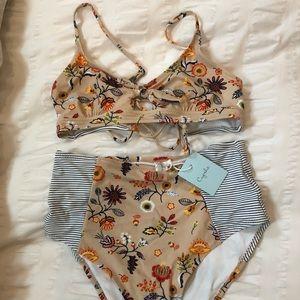 NWT high waisted bikini set